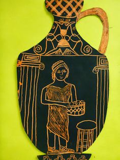 Portentous Tips: Vases Interior Pottery vases painting mason jars.Vases Art For Kids chinese vases products. Ancient Greek Art, Ancient Greece, Art Nouveau, Greece Art, Greek Pottery, 3rd Grade Art, Vase Crafts, Scratch Art, Greek History