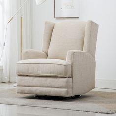 Nursery Rocker Recliner, Swivel Rocker Recliner Chair, Nursery Glider Chair, Gliders, Living Room Chairs, Dining Room, Furniture, Chenille Fabric, Transitional Style