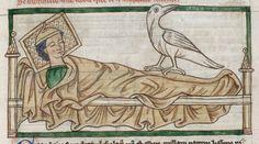 Caladrius bird in Harley 3244; Another interesting pillow.