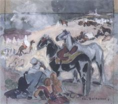 Cavaliers marocains von Edouard Edmond Doigneau