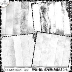 Halftone Transparent Overlays Bundles 1-4 (Commercial Use)