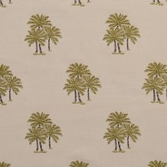 Geen Light and White Foliage Tapestry Upholstery Fabric
