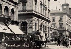 Masarykovo nádraží v době první republiky