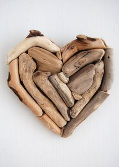 Driftwood Heart Decoration No 2  Wall Hanging