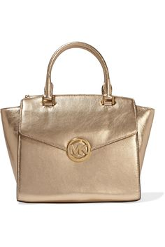 Shop on-sale MICHAEL Michael Kors Hudson metallic textured-leather tote. Browse other discount designer Totes & more on The Most Fashionable Fashion Outlet, THE OUTNET.COM