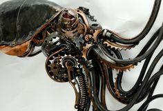 sculpture Octopus tentacles steampunk squid kraken steampunk art ...