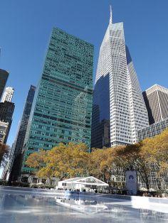 Bryant Park Skating Rink, Bank of America Tower, Mid Manhattan, New York