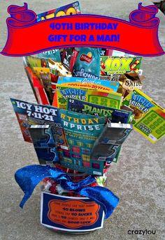 Birthday Gift Ideas for Men Unique Crazylou Birthday Gifts for Men 40th Birthday Ideas For Men Gift, 40 Birthday Gifts, 40th Birthday Parties, Man Birthday, 50th Party, Birthday Basket, Birthday Stuff, Birthday Crafts, Birthday Decorations