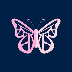 Cartoon Butterfly, Butterfly Logo, Cute Butterfly, Butterfly Crafts, Beautiful Butterflies, Cartoon Paper, Tiny Heart Tattoos, Cartoon Clouds, Butterfly Illustration
