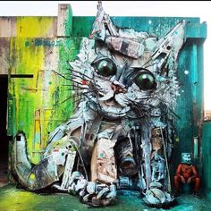 Amazing -- #recycle! #Artist / my future best friend in the corner too though... // #ART #StreetArt