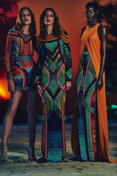 I love, love, love the colors but realistically only thin people can wear these... Balmain Resort 2017 Fashion Show