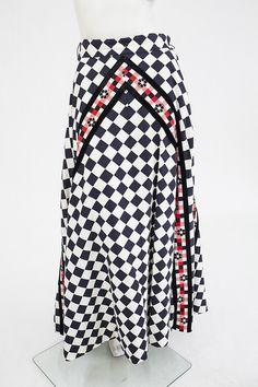 Checkerboard cotton skirt |Manhattan Vintage Clothing Show
