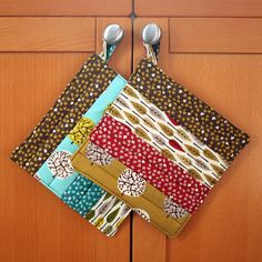 Simple project to learn patchwork and quilting - ideal for a child learning to use a sewing machine too. Nice Christmas present for granny?