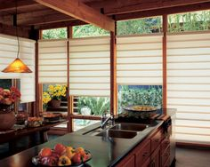 Create your dream kitchen with Hunter Douglas window treatments like the Vignette Modern Roman Shades! Contact us today and we'll help you find the perfect style for your home. Blinds For Windows, Kitchen Design Styles, Modern Window Treatments, Modern Roman Shades, Window Styles, Japanese Interior, Kitchen Design, Modern Windows, Kitchen Window Treatments