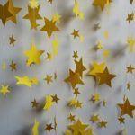 Paper Garland Yellow Stars 18 Feet Long by polkadotshop on Etsy Mais Wonder Woman Birthday, Wonder Woman Party, Birthday Woman, Princess Jasmine Party, Little Prince Party, Girls Party, Magic Party, Prince Birthday, Star Garland