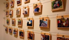 diy photo wall ideas without frames display diy wall picture frame ideas Hanging Artwork, Hanging Photos, Photo Hanging, Hanging Frames, Hanging Wire, Cheap Home Decor, Diy Home Decor, Diy Wall, Wall Decor