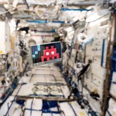 Space Invader... in Space.