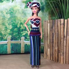 Barbie Doll Dress  Geometric African Inspired by EnchantedStyles, $22.00