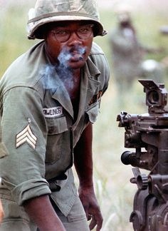 Section Chief Rawlings, 105mm howitzer --First Cavalry Division, 1965. ~ Vietnam War