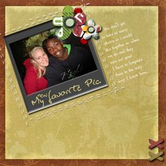 #digital #scrapbook #page for one photo - one of my fav's of hubby and I