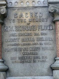 Rev. Bernard Flood, 1828-1876