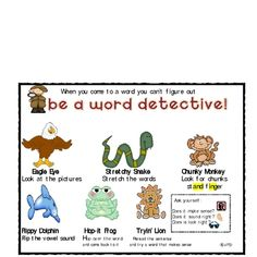 Students will love being word detectives! This is a fun way to incorporate write the room into your daily literacy centers or word work components....