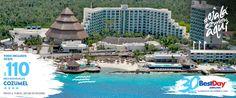 Park Royal Cozumel es una propiedad que brinda un variado plan Todo Incluido, cuenta con acceso a una extensión de playas privadas a través de un atractivo pasaje subterráneo y tiene 348 habitaciones confortables y espaciosas con balcones privados con impactantes vistas al océano. El hotel se encuentra justo frente a la segunda barrera de coral más importante del mundo, por lo que es visitado por quienes practican buceo de profundidad, pesca y esnórquel. #OjalaEstuvierasAqui