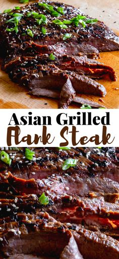 The marinade for this Asian Grilled Flank Steak is unbelievably good! This easy flank steak recipe takes just a few minutes to prepare. After marinating it only takes about fifteen minutes to grill a juicy and tender flank steak for dinner! Asian Flank Steak, Flank Steak Tacos, Asian Grill, Marinated Flank Steak, Good Steak Marinade, Grilling Flank Steak, Steak Grilling Times, Skirt Steak Recipes, Flank Steak Recipes