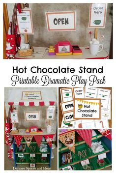 Hot Chocolate Stand Printable Dramatic Play Pack