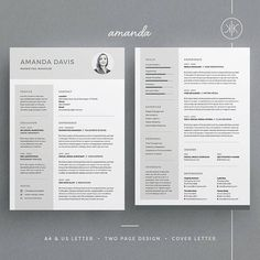 Amanda resumecv template word photoshop indesign amanda resumecv template word photoshop indesign professional resume design cover letter instant download yelopaper Image collections
