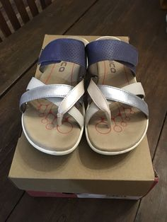 1b76fdd5e Bionica Women s Nuri Thong Sandal Ocean Multi Leather Thong Sandals Size 6  37  fashion