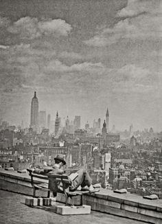 NYC. a view of Manhattan from across the East River, 1936