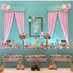 #mulpix Decoração linda com o tema Jardim das Ursas ! Imagem @lalapetit   #loucaporfestas  #party  #festa  #decoration  #festajardim