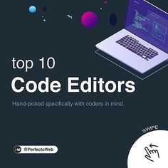 @webkraftr_ Top 10 Code Editors  We often get asked about what's the best code editor for modifying website files? Well you can use any plain text editor such as NotePad, however there are better editors out there with features like syntax highlighting, advanced find and replace, FTP integration, etc. In this article, we will show you some of the best code editors available for Mac and Windows users. What is your favorite code editor? Web Design Tools, Tool Design, 10 Codes, Text Editor, Inspire Me, Mac, Mindfulness, Coding, Good Things