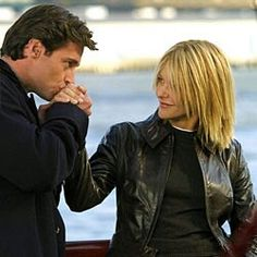 Kate & Leopold - a kiss for the hand of his lady  The ultimate gentleman treating his lady right.