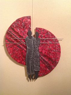 Muur decoratie van paverpol en pretex Mirror Crafts, Metal Art Projects, Metal Art Sculpture, Copper Art, Fused Glass Art, Mural Art, Stone Art, Mosaic Art, Clay Art