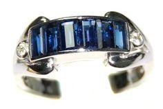 18K White Gold Wedding Diamond Gemstone Blue Sapphire Ring [RQ0043] BKGjewelry http://www.amazon.com/dp/B00CDO4PXE/ref=cm_sw_r_pi_dp_Y3blwb0HRV690