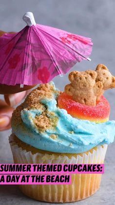 Fun Baking Recipes, Cupcake Recipes, Sweet Recipes, Dessert Recipes, Cute Desserts, Delicious Desserts, Yummy Food, Baking Cupcakes, Cupcake Cakes