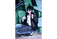 Tegan Look 2 High Fashion, Street Wear, Unisex, Denim, Leather, Collection, Couture, High Fashion Photography, Streetwear