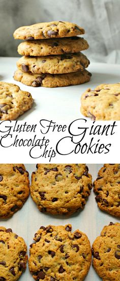 Gluten Free Giant Chocolate Chip Cookies are sure to please anyone! | gluten free chocolate chip cookies | gluten free | gluten free cookies | chocolate chip cookies | giant chocolate chip cookies | gluten free giant chocolate chip cookies |