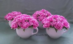 Tea Cup Display, Mothers Day Crafts For Kids, Foam Roses, How To Make Tea, Flower Boxes, Handmade Flowers, Xmas Decorations, Ikebana, Centerpieces