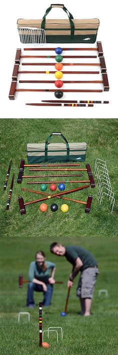 Croquet 117210: Lion Sport 33 Inch 6 Player Deluxe Croquet Set BUY IT NOW ONLY: $79.99