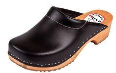 Black Color Swedish Leather Clogs Men'S | eBay
