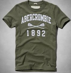 0c6cb393 Nwt Abercrombie & Fitch By Hollister Men's Logo Tee T Shirt Size S  Green #