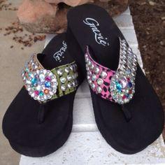 Shoes - Bold Grazie flip flops.