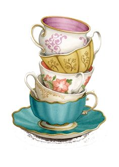 TEACUP STACK PNG - TRANSPARENCY / OVERLAY FOR PERSONAL USE