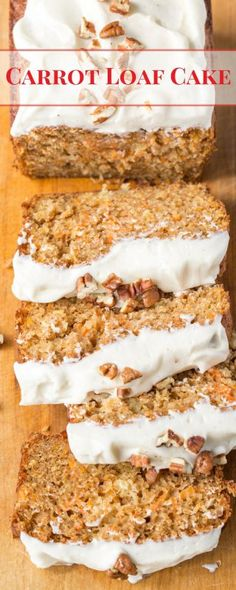 Carrot Loaf Cake - a deliciously moist cake loaded with fresh grated carrots and…