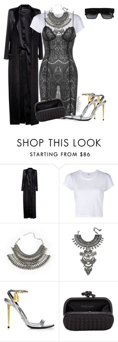 """""""Untitled #897"""" by styledbyjovon ❤ liked on Polyvore featuring Anthony Vaccarello, RE/DONE, DYLANLEX, Bottega Veneta and CÉLINE"""