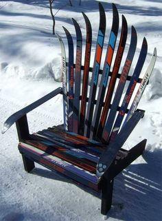 Что можно сделать из старых лыж?