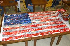 was last Monday. Despite the belated nature of this post, grade students did spend their class time piecing togeth. Middle School Art, Art School, School Auction, School Stuff, High School, Art Lessons For Kids, Art For Kids, American Flag Art, American Artists